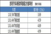 售3.69-4.99万元 吉利新款熊猫正式上市