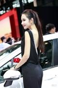 2013上海车展标致展台美背车模