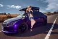 性感小野猫郊外邂逅尊贵紫色科鲁兹