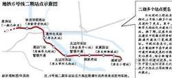 京铁6号线一二期下月贯通 70分跑完全程!