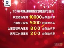 北京福田伽途山东糖酒会上签1.6万台定单