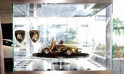 伙伴们都惊呆了 4500万纯金兰博基尼车模