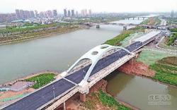 长沙圭塘河大桥基本建成 即将投入使用!