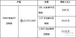 SWM斯威X7互联版一网无际火爆沧州