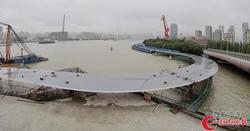 浦江东岸工程白莲泾桥主结构实现贯通