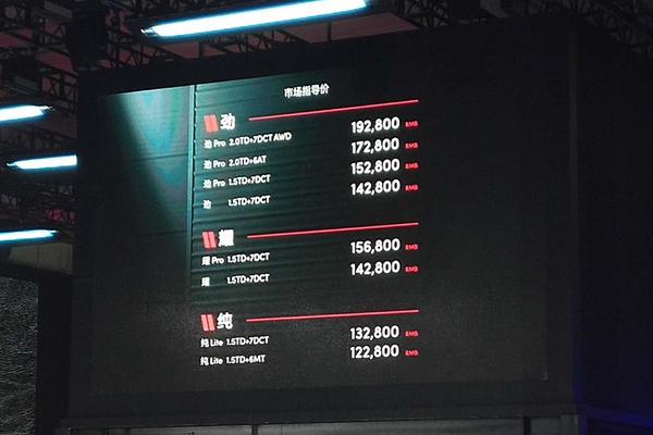 指导价12.28-19.28万元 领克02正式上市