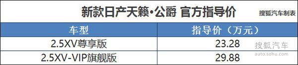 东风日产新款天籁上市