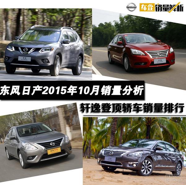 车企销量解析:东风日产10月环比涨15.91%