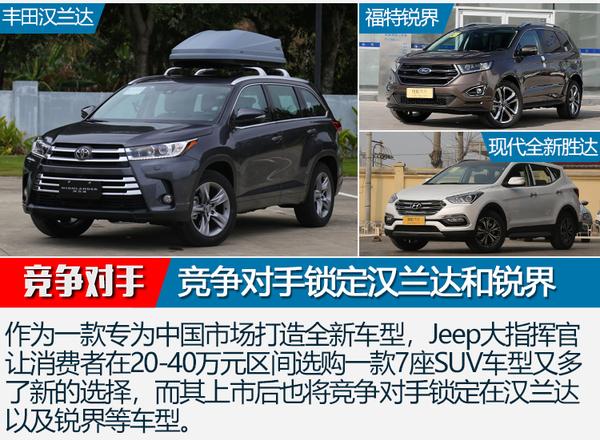 Jeep大指挥官将于4月17日上市 定位7座中型SUV