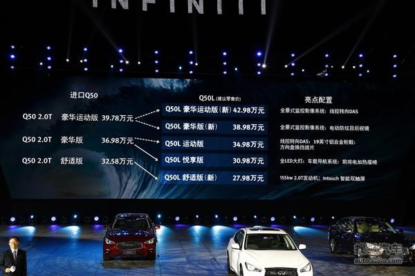 2015款东风英菲尼迪Q50L上市现场图