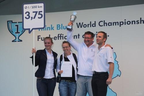"""大众汽车""""蓝 创未来""""世界节油大赛第二天"""