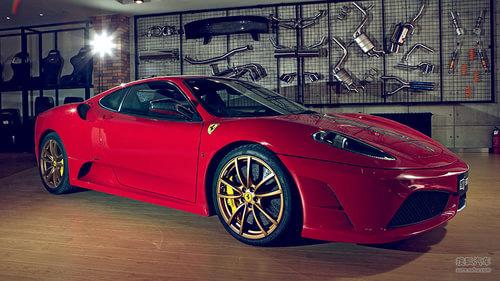 法拉利.法拉利f430scuderia搭载着4.3升v8自然吸气发动机,高清图片