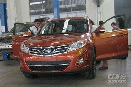 广汽SUV已定名传祺GS5 2011广州车展探营实拍