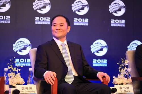 沃尔沃汽车公司董事长 吉利控股集团创始人兼董事长李书福高清图片
