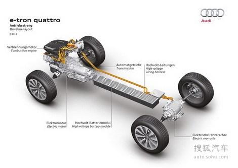 奥迪展示A5 e-tron 插电混合动力