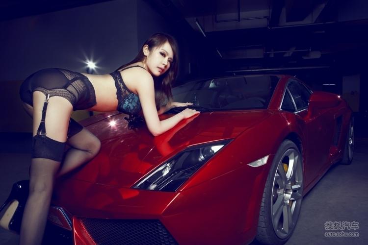 兰博基尼美女车模 美女车模