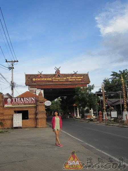 这就是班塔瓦木雕村的入口