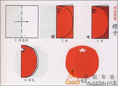 对称式剪纸步骤