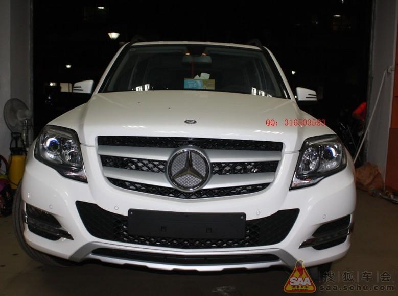 2013款奔驰glk300改装q5双光透镜 高清图片