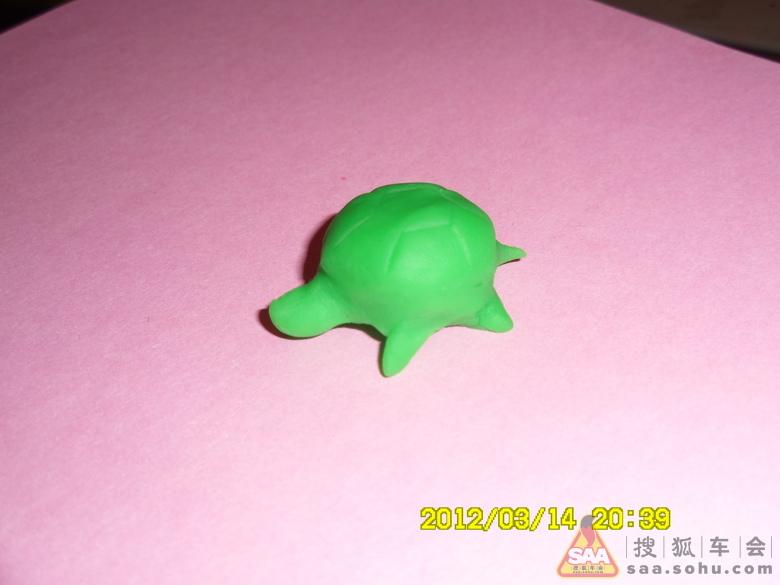 橡皮泥手工制作小动物乌龟
